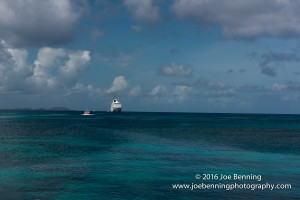 Anchored off Yasawa-i-Rara, Fiji with a small tender taking passengers to shore
