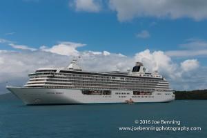 Crystal Serenity anchored off Hamilton Island, Australia