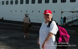 Mary Anne by the Serenity in the dock in Samoa