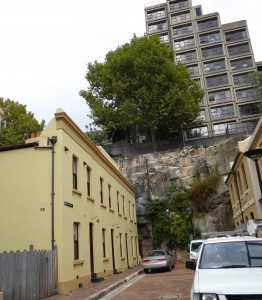 The oldest street in Sydney, in the Rocks