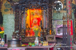 Inside a  Buddhist Temple in Saigon, Viet Nam