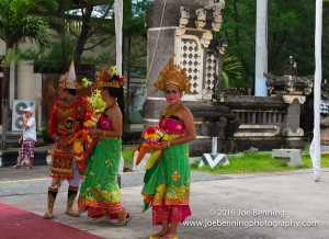 Greeting at Port Benoa by native Balinese people