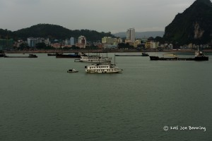 Ha Long Bay Harbor from our stateroom veranda