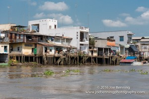 Houses and Stores on Stilts along the Mekong River