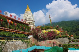 One of the largest Buddhist Temples in Malaysia, Kek Lok Si Temple, in Penang