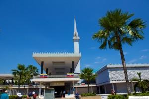 Masjid Negara, the National Mosque in Kuala Lumpur, Malaysia