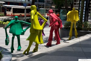 Sculpture on Orchard Road, Singapore
