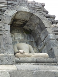 Sadly, many of the statues were vandalized during the years when Borobudur was not maintained.