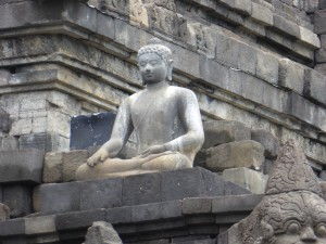 one of the 504 Buddha at Borobudur