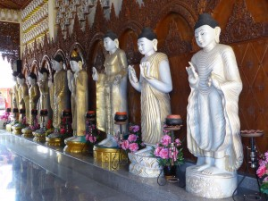 a few of the Buddhas from the Burmese Buddhist temple