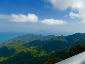 that's Thailand in the background!  view from top of Gunung Mat Chinchangm Langkawi, Malaysia