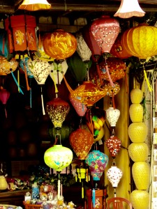 One of the many, many lantern shops in Hoi An, selling beautiful silk covered lanterns
