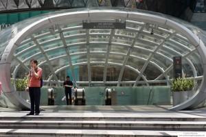 Path to underground walkway