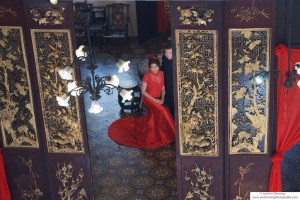 Pre-wedding photo of a Chinese bride to be