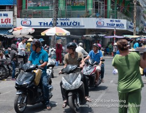The busy streets of Saigon