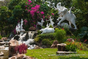 Statuary in the Gardens of the Ancient City of Bangkok