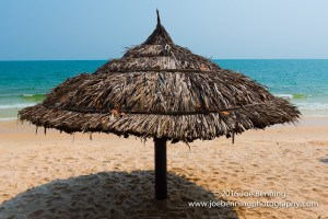 Thatched Umbrella at Beach Resort, Cambodia