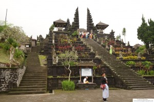 Shot taken by the last stairway leading to to the Pura Besakih, the largest Hindu Temple in Bali