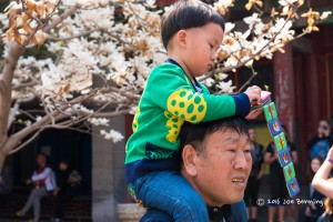 Father and Son visit the Summer Palace