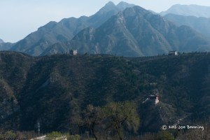 Great Wall with Mountains in the Background
