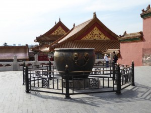 Forbidden City Fire Extinguisher - large urns of water were kept in case there was a fire in the wooden structures