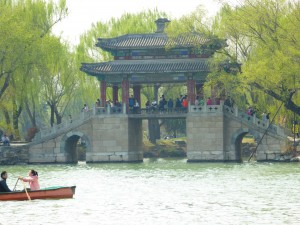 one of the many bridges at the Summer Palace