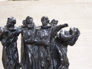 Rodin's Burghers of Calais - one view (there are 57 castings of this sculpture in existence)