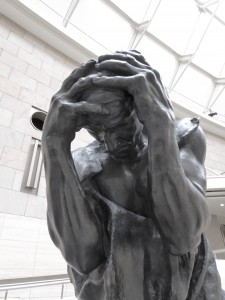 another Rodin - totally resonates with how we feel sometimes!