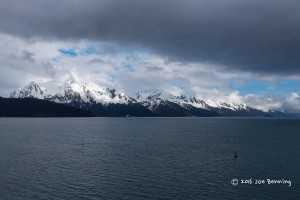 Sailing out of Seward Alaska