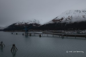 Snowy Hilltops by Seward Harbor