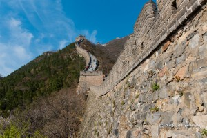 The Great Wall of China in the mountains around Beijing