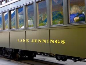 """White Pass and Yukon Railway car in Skagway named """"Lake Jennings!"""""""