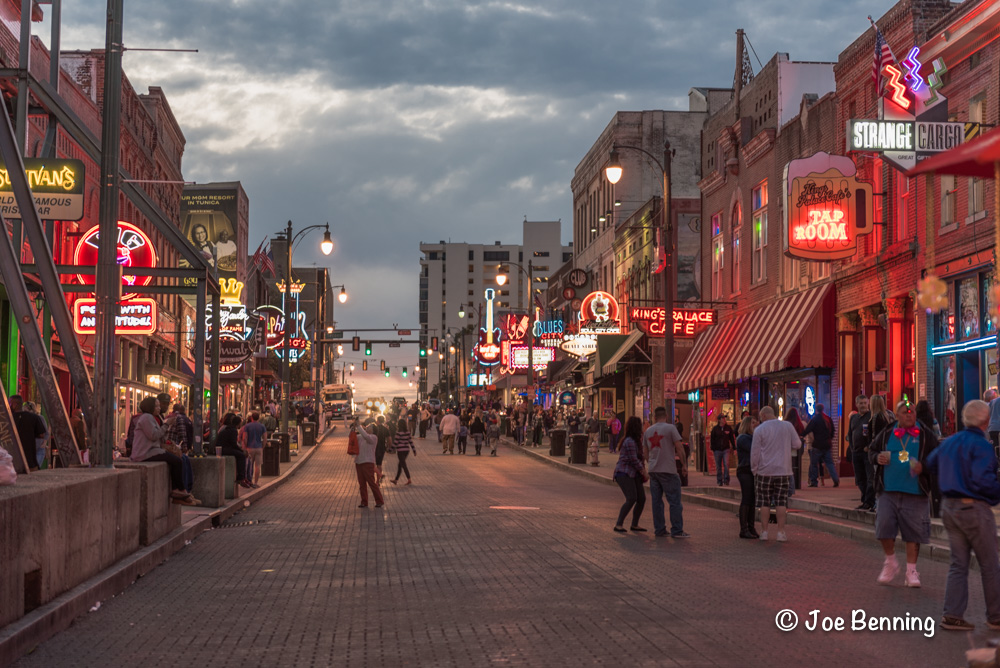 Beale Street in Memphis, the home of rock and roll.