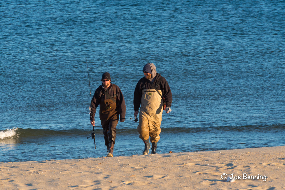 Two Fisherman Coming off the Beach