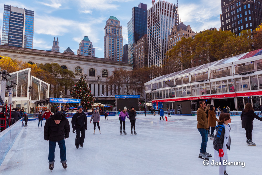 Ice Skaters at the Bryant Park Rink in New York