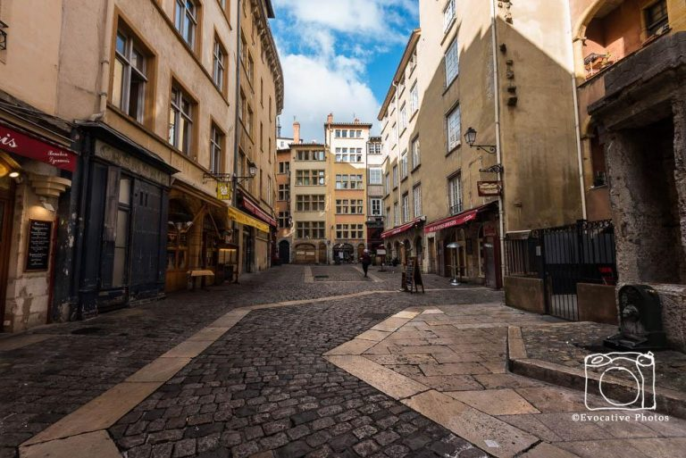 Side street in the Old City of Lyon