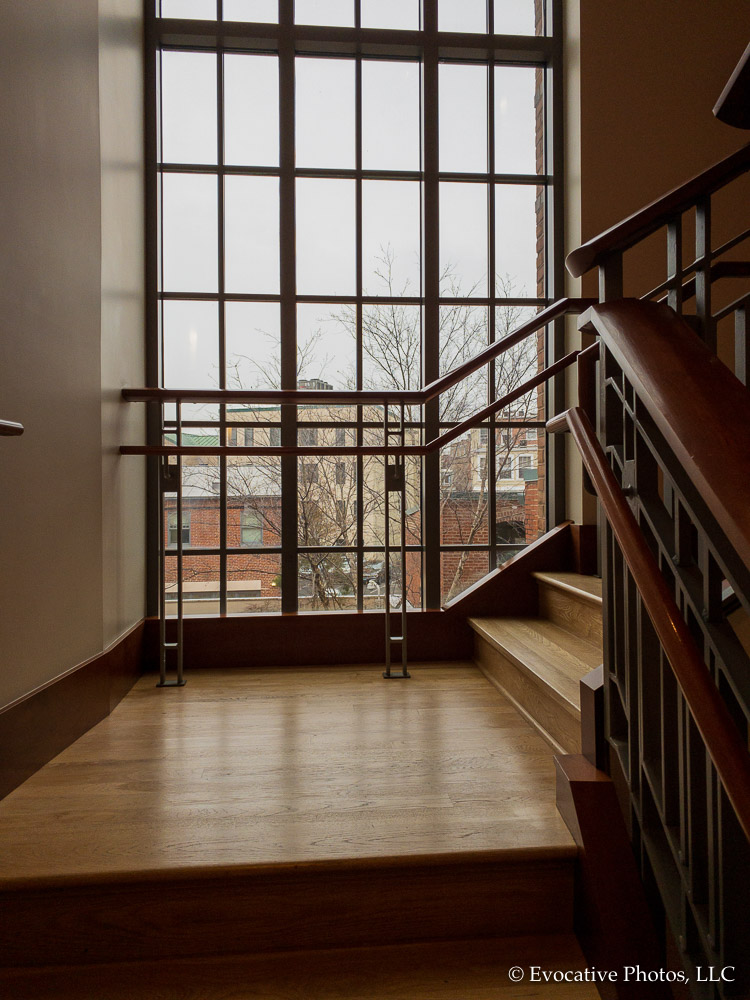 Stairwell and Window in the Phillips Museum